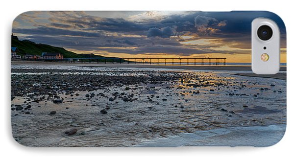 Sunset With Saltburn Pier IPhone Case