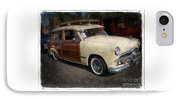 Surfer Wood Panel Car IPhone Case