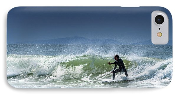 Surfing At Byron Bay IPhone Case