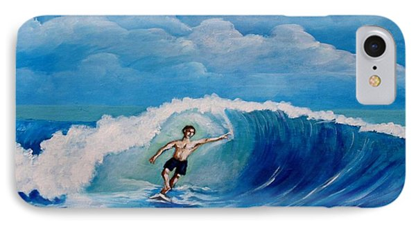 Surfing On The Waves IPhone Case