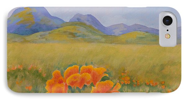 Sutter Buttes With California Poppies IPhone Case