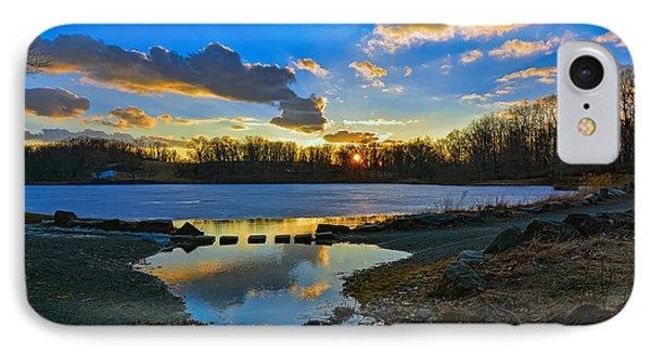 Swan Lake Sunset IPhone Case
