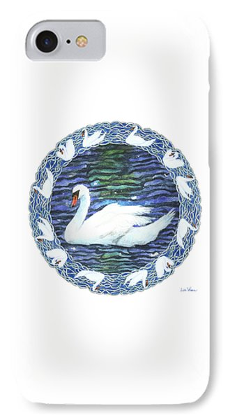 Swan With Knotted Border IPhone Case