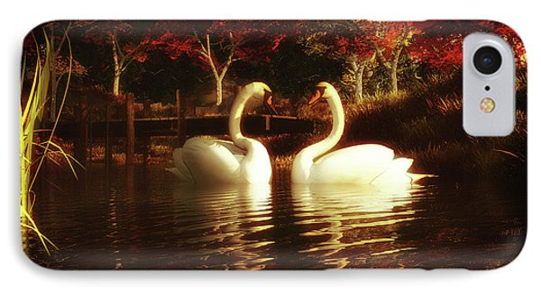 Swans In A Pond IPhone Case