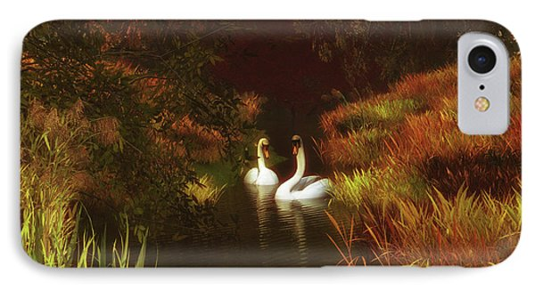 Swans In The Forest IPhone Case
