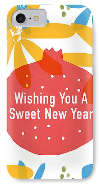 Sweet New Year Card- Art By Linda Woods IPhone Case
