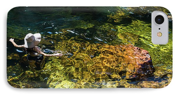 swimming in the Buley Rockhole waterfalls IPhone Case