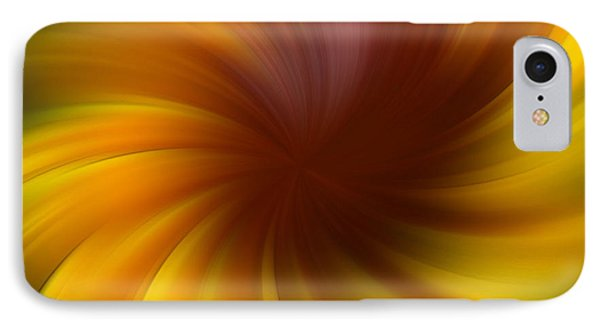 Swirling Yellow And Brown IPhone Case