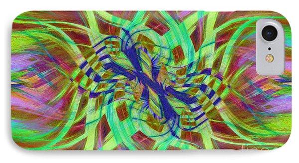 Swirly Floral Mandala 01 IPhone Case