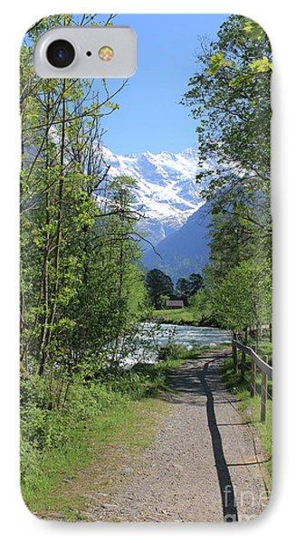 Switzerland, Lauterbrunnen Valley In Spring IPhone Case