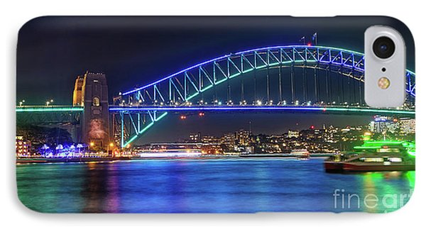 IPhone Case featuring the photograph Sydney Harbour Green And Blue By Kaye Menner by Kaye Menner