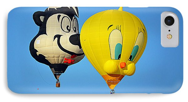 IPhone Case featuring the photograph Sylvester And Tweety Balloons by AJ Schibig