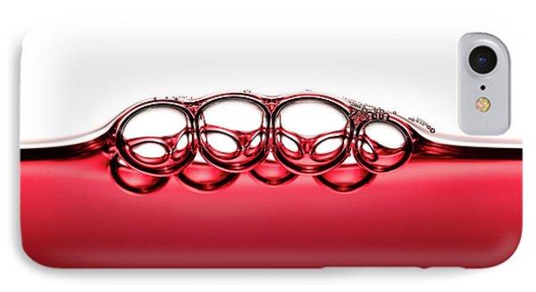 Symmetrical Red Wine Bubbles IPhone Case