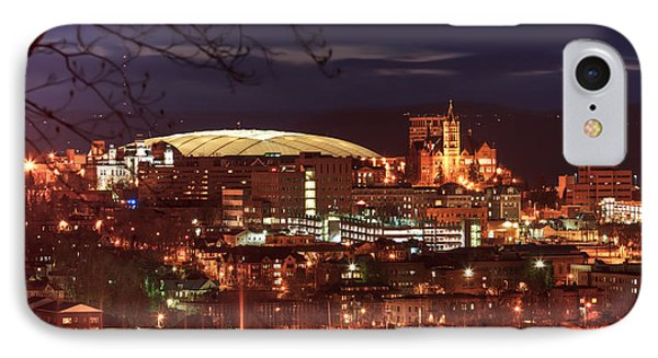 Syracuse Dome At Night IPhone Case