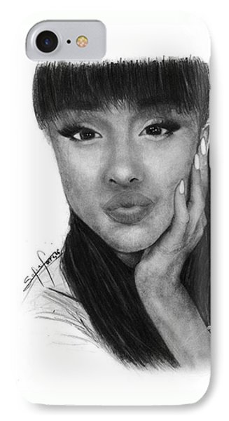 Ariana Grande Drawing By Sofia Furniel IPhone Case