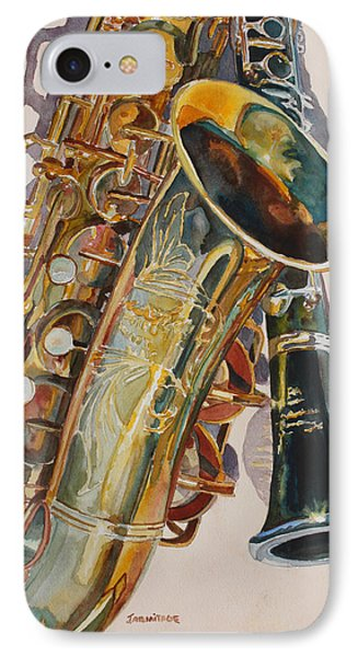 Saxophone iPhone 8 Case - Taking A Shine To Each Other by Jenny Armitage