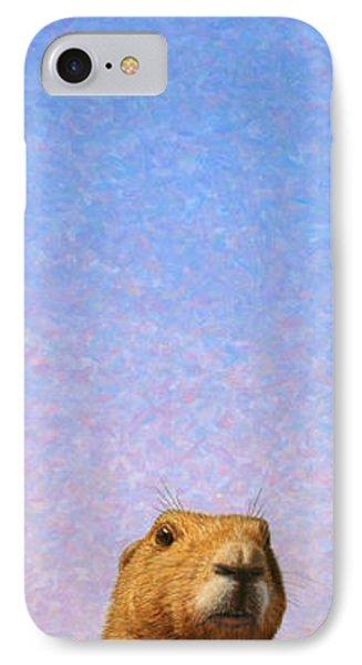 Dog iPhone 8 Case - Tall Prairie Dog by James W Johnson