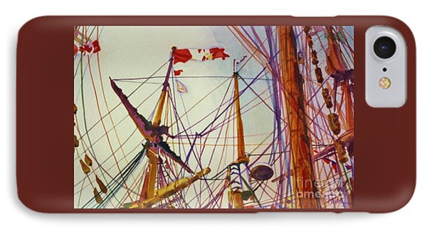 Tall Ship Lines IPhone Case