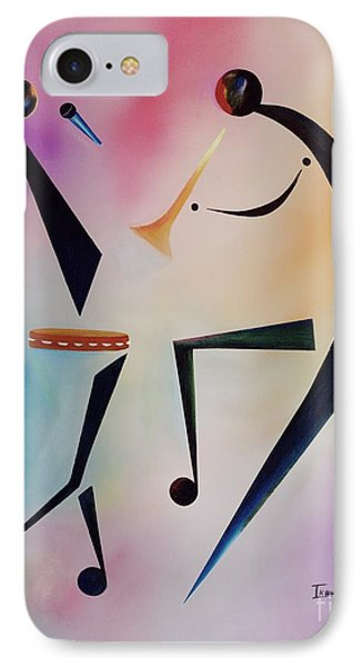 Trumpet iPhone 8 Case - Tambourine Jam by Ikahl Beckford