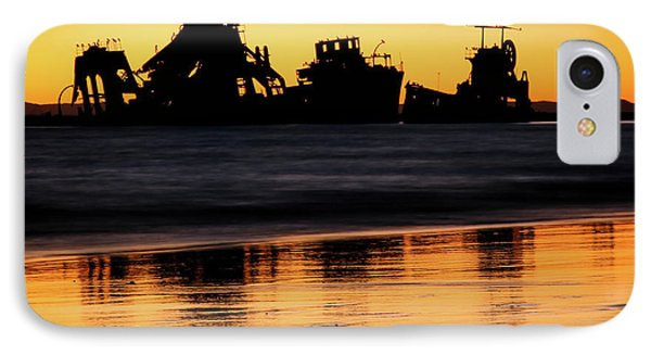 Tangalooma Wrecks Sunset Silhouette IPhone Case
