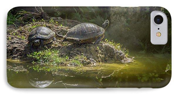 Tanning Turtles IPhone Case