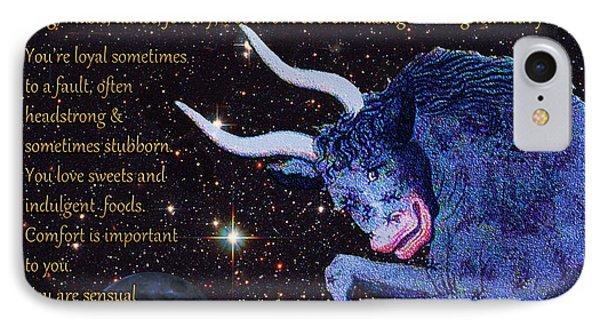 Taurus Birthday Zodiac Astrology IPhone Case