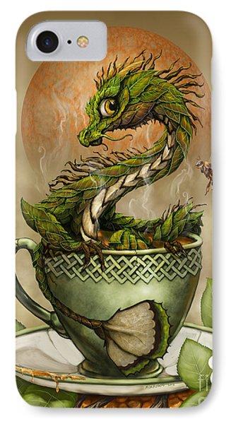 Dragon iPhone 8 Case - Tea Dragon by Stanley Morrison
