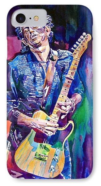 Music iPhone 8 Case - Telecaster- Keith Richards by David Lloyd Glover