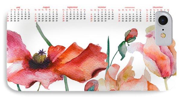 Template For Calendar 2013 IPhone Case