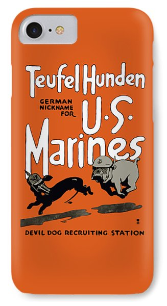 Teufel Hunden - German Nickname For Us Marines IPhone Case