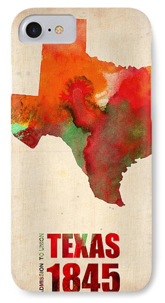 Texas Watercolor Map IPhone Case