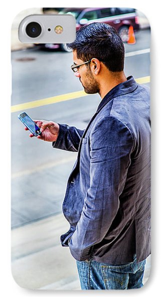 Man Texting IPhone Case