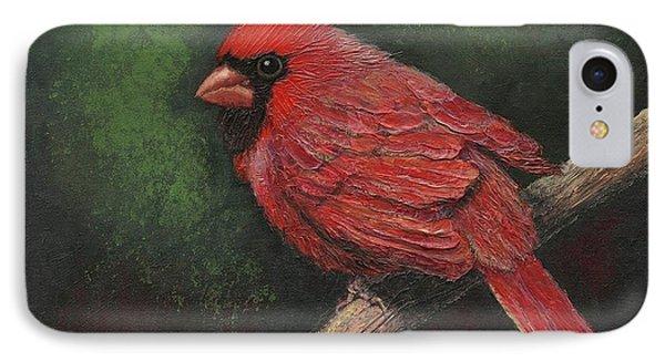 Textured Cardinal IPhone Case