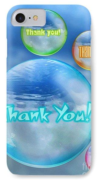 Thank You Bubbles IPhone Case