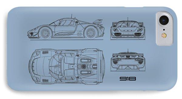 Porsche Blueprint iPhone 8 Cases | Fine Art America