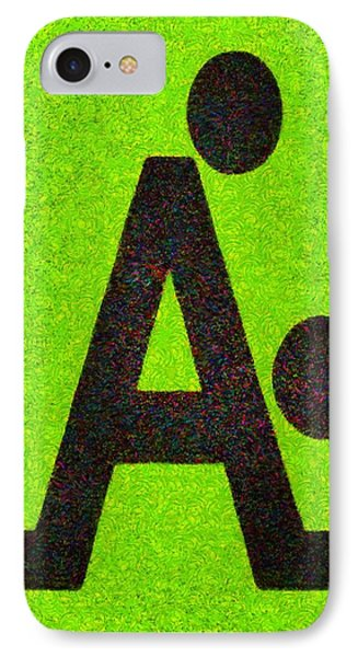 The A With Style Lime - Da IPhone Case