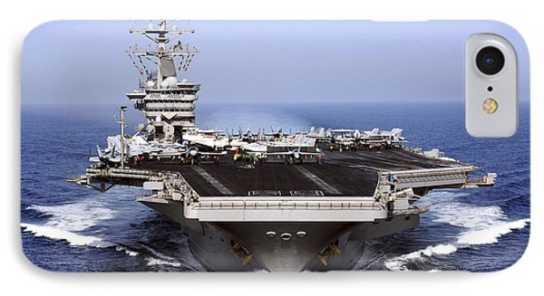 The Aircraft Carrier Uss Dwight D IPhone Case
