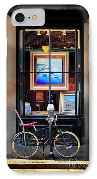 IPhone Case featuring the photograph The Art Gallery Bicycle by Craig J Satterlee