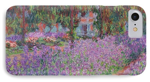 Impressionism iPhone 8 Case - The Artists Garden At Giverny by Claude Monet