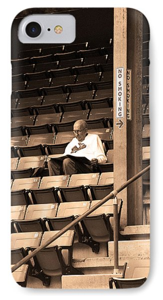 The Baseball Fan In Sepia IPhone Case
