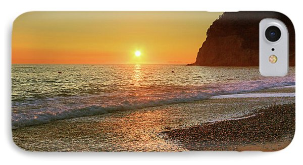 the beach and the Mediterranean sea in Montenegro in the summer at sunset IPhone Case