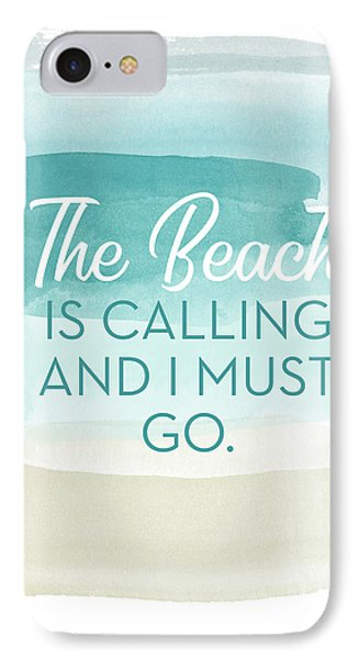 The Beach Is Calling- Art By Linda Woods IPhone Case