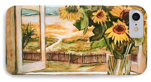 The Beach Sunflowers IPhone Case