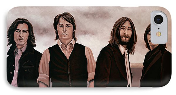 Rock And Roll iPhone 8 Case - The Beatles 3 by Paul Meijering