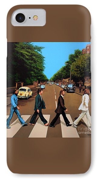 Music iPhone 8 Case - The Beatles Abbey Road by Paul Meijering