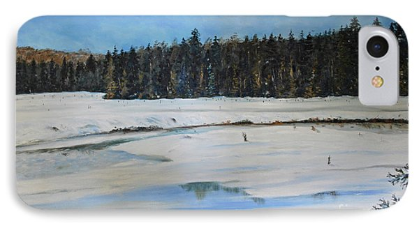 The Beaver Pond In Winter IPhone Case