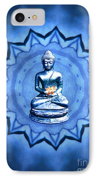 The Blue Buddha Meditation IPhone Case