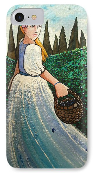 The Blueberry Harvest IPhone Case