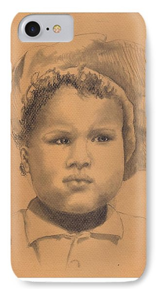 The Boy Who Hated Cheerios -- Portrait Of African-american Child IPhone Case