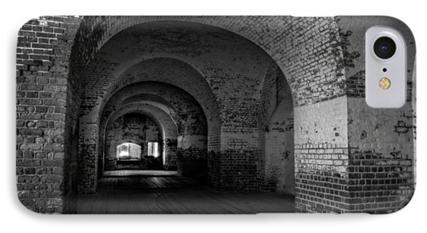 The Bricks Of Fort Pulaski In Black And White IPhone Case